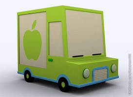 3d Delivery Truck - 3ds Max 2010 - Default Render by faizansari90