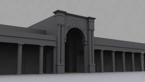 3d model of a Town Hall by faizansari90