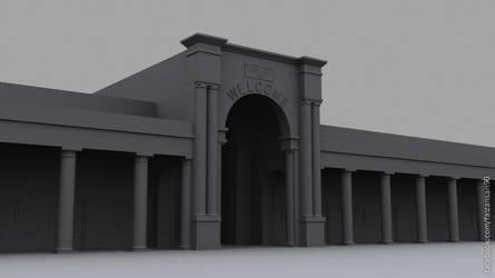 3d model of a Town Hall by faizansari90