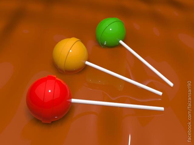 Lollipops - 3ds Max 2013 - Mental Ray Renderer by faizansari90