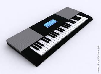 Piano - 3ds Max 2010 by faizansari90