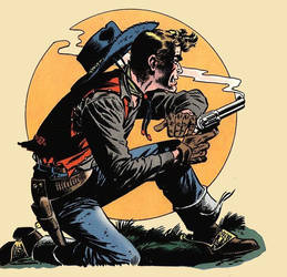 art from OUTLAWS OF THE WEST by peterpulp