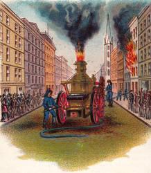 19th century fire wagon by peterpulp