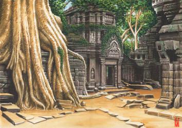 Angkor Wat temple by toniart57