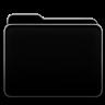 Faenza inspired black folder by aksum7