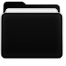 Faenza inspired black folder (active) by aksum7