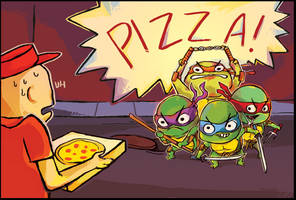 TMNT: pizza by ohmonah