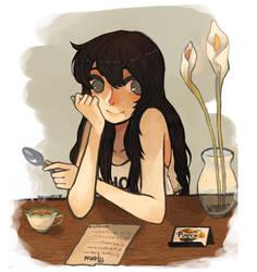 Pumpkin Online Cafe Girl by Sannanai