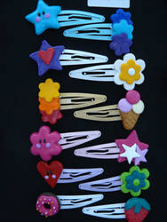 Hair clips by Mangopearl