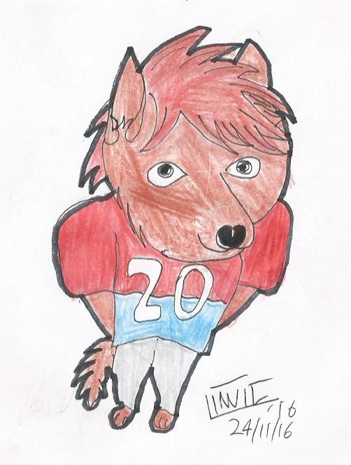 Footy Player Wolf By Orange Icemlp On Deviantart