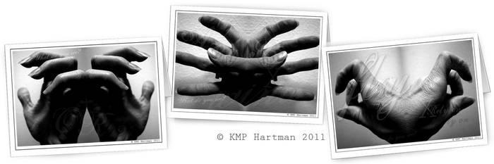 Rorschach Hands, cards by moonfreakformula