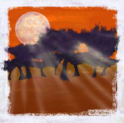 Orange Moon by moonfreakformula