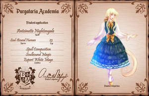 [PA] Antoinette Nightengale-Student Application by Melod-va