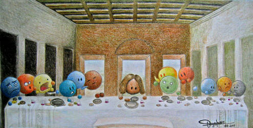 Emoticons Last Supper by darefron