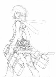 Mikasa Hunter by Chronelic