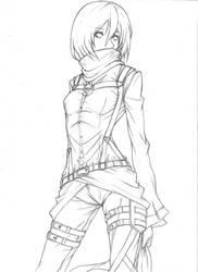 Mikasa Ackerman by Chronelic