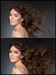 Hair Retouch by Ashish-Arora