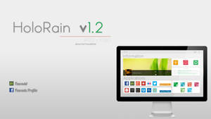 HoloRain v1.0 Rainmeter Skin by Fawadd