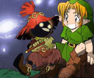 Link and Stalkid by Fratey