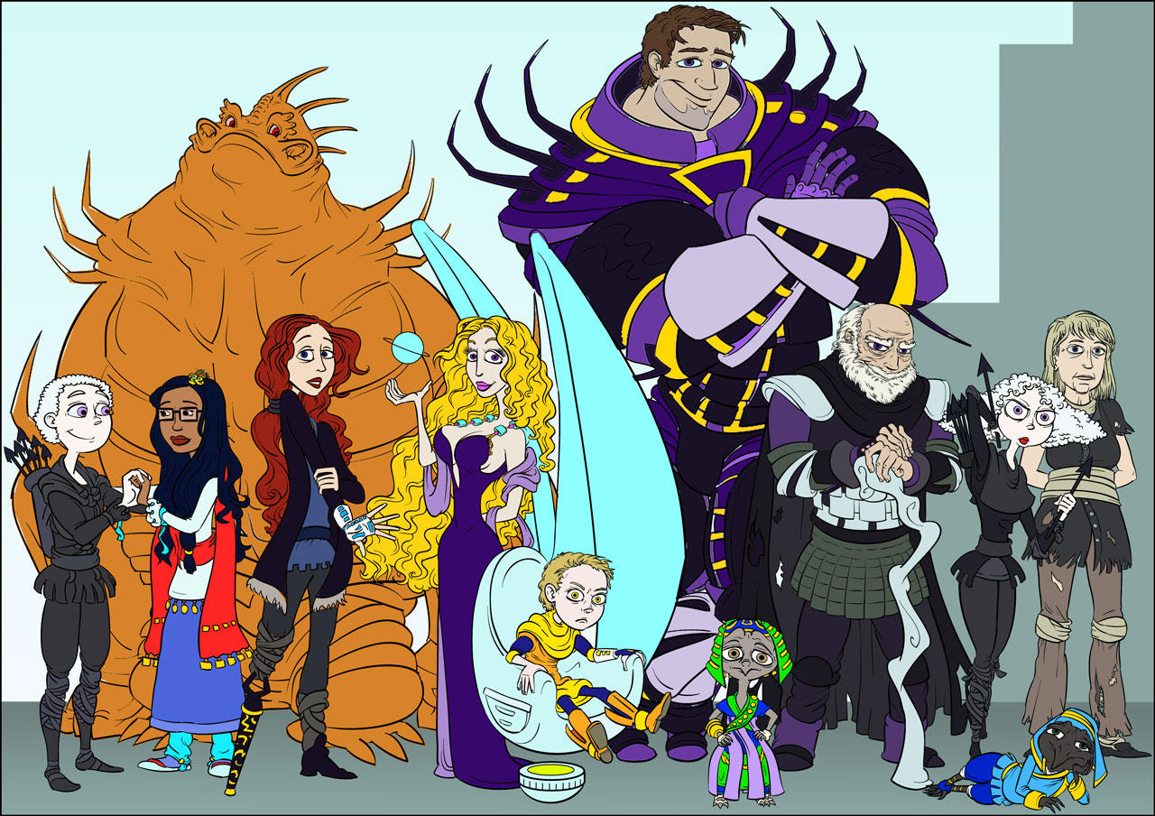 Torth gang, flat color by AbbyGoldsmith