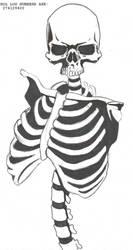 Skeleton Design by DEADLY-INK