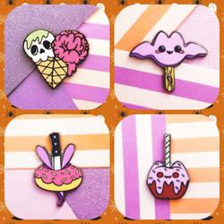 . Spooky Sweet Enamel Pins by mini-bit
