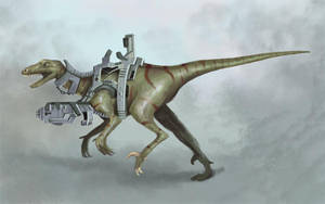 Dino Riders Utahraptor by Rodriguezzz