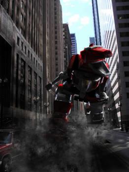 Red Ranger Rush by Jeff-Destroy