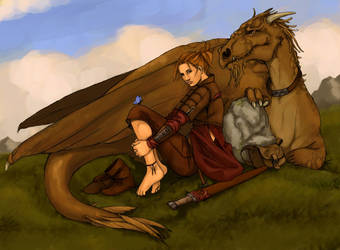 dragon rider by Werdandi