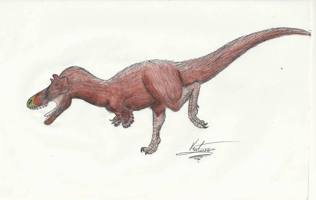 Qianzhousaurus sinensis by VenturaSalas
