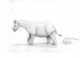 Indricotheriidae by VenturaSalas