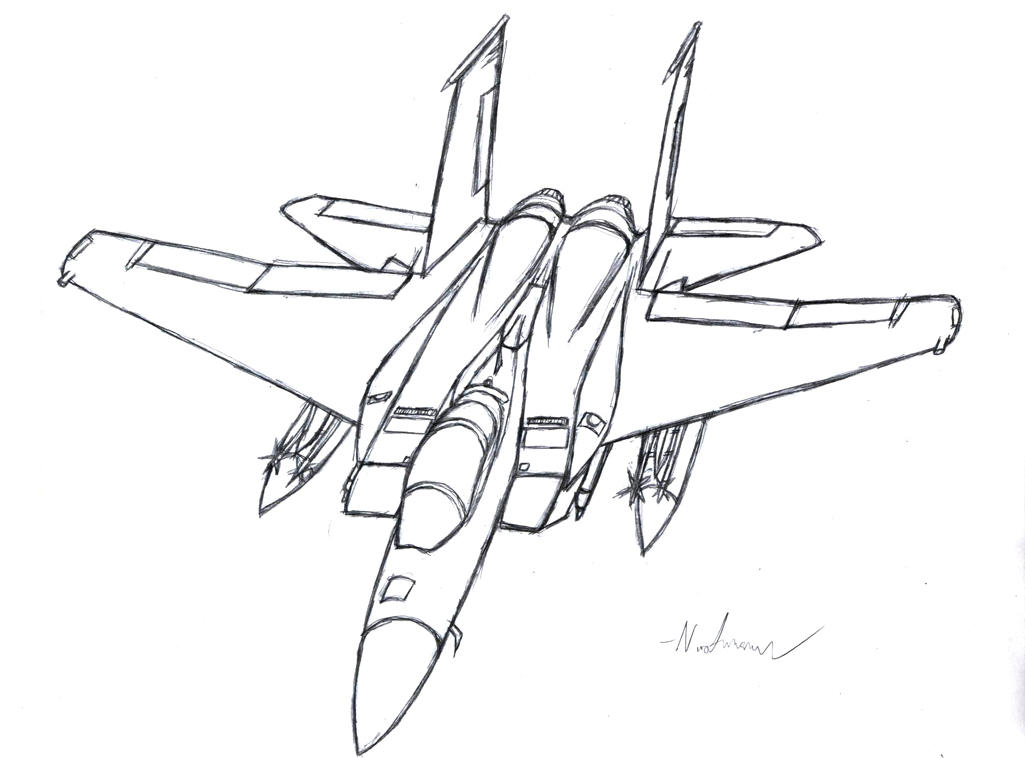 F 15e Line Drawing
