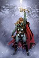 Thor in Jotunheim by MarkHRoberts