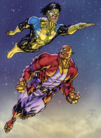Invincible and Allen the Alien by MarkHRoberts
