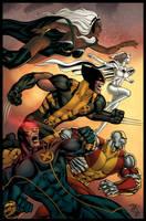 X-Men by MarkHRoberts