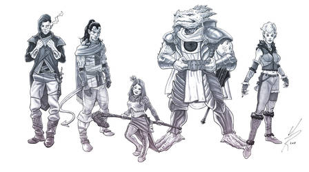 DnD Party Commission by MarkHRoberts