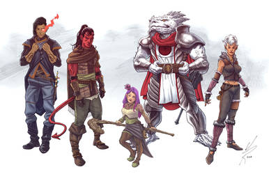 DnD Party Commission in Color by MarkHRoberts