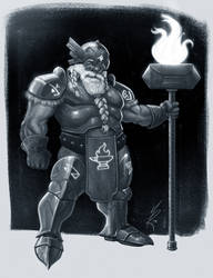 Forge Cleric by MarkHRoberts