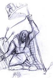 celta herido by LordConstanta