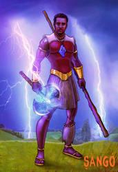 Shango, god of thunder by JJwinters