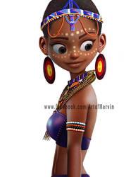 African Belle by JJwinters