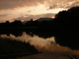Sunset over Orava II by Gwathiell