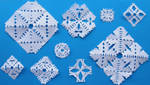 Paper snowflakes by Gwathiell