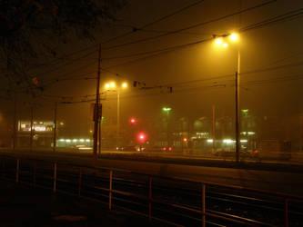 Nighttime - Street by Gwathiell