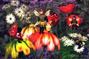 Gathering Pollen by Elsapret