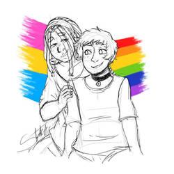 Pride 2018: Jay and Derek by ameneko98