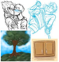 help I can barely draw by ameneko98