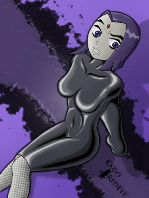 Raven In Latex by KadoRedEye