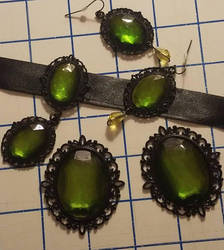 Peridot Resin Pieces by Azure-Rose-Cosplay