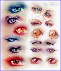 Manga Eye Study 1 by Giname